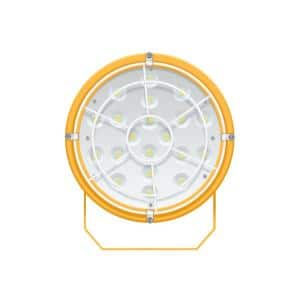The Reacher 6 in. Round 50-Watt Equivalent Integrated LED Yellow Shop Light