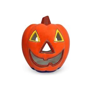 11 in. Talavera Orange Naughty Pumpkin Candle Holder