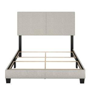 Barrett King Cream Linen Upholstered Platform Bed