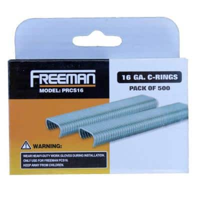 11/16 in. 16-Gauge Glue Collated C-Ring Staples (500-Count)