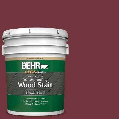 5 gal. #S130-7 Cherry Cola Solid Color Waterproofing Exterior Wood Stain