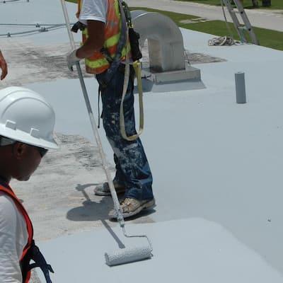 Roof Mate Base Coat 250 Gal. Light Gray Acrylic Reflective Elastomeric Roof Coating (15-Year Limited Warranty)