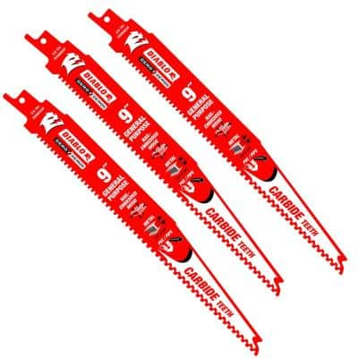 9 in. 6/9 TPI Demo Demon Carbide Reciprocating Saw Blades for General Purpose Cutting (3-Pack)
