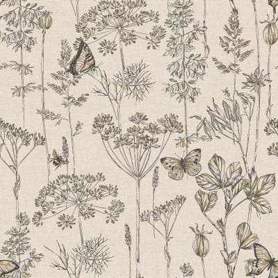 Meadow Floral Fabric Strippable Wallpaper (Covers 57 sq. ft.)