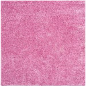 California Shag Pink 7 ft. x 7 ft. Square Area Rug
