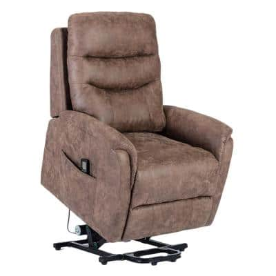 Luxury 3-Motor Brown Palomino Power Lift and Massage Chair with Heat Therapy