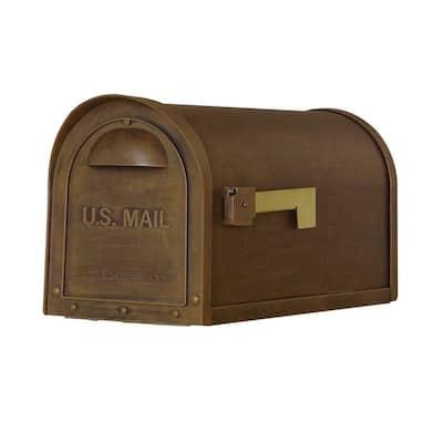 Classic Copper Post Mount Mailbox