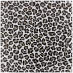 Kaa Leopard Black and White 24 in. x 24 in. Matte Porcelain Floor and Wall Tile (3 Pieces/11.62 sq. ft./Case)