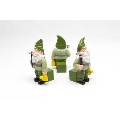 Potty Feet Coloured Standing Gnome (Set of 3)