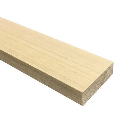 1/2 in. x 2 in. x 3 ft. Hobby Board Kiln Dried S4S Poplar Board (20-Piece)