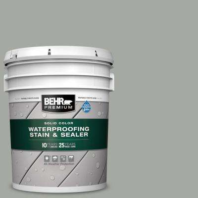 5 gal. #SC-149 Light Lead Solid Color Waterproofing Exterior Wood Stain and Sealer