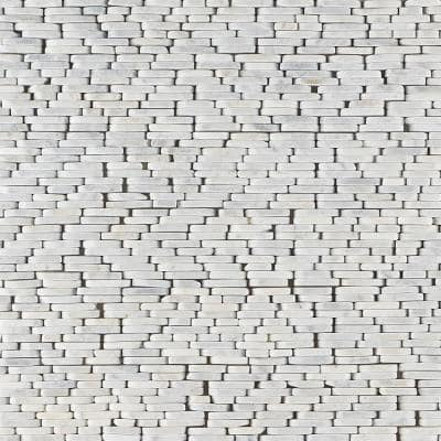 Countryside Stacked Sliced Carrara 4 in. x 10.75 in. Natural Marble Floor and Wall Mosaic Tile (0.29 sq. ft./Each)