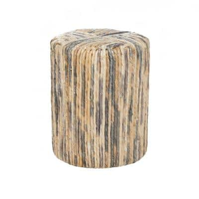 18 in. Brown Contemporary Teak Wood Stool