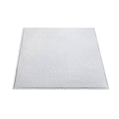 Great Lakes Tin Ludington 2 Ft X 2 Ft Nail Up Metal Ceiling Tile In Gloss White Case Of 5 T5700 The Home Depot