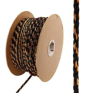 3/8 in. x 400 ft. Polypropylene Truck Rope, Black and Orange