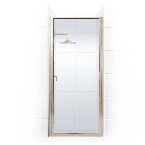 Coastal Shower Doors Paragon 23 In To 23 75 In X 70 In Framed Continuous Hinged Shower Door In Brushed Nickel With Clear Glass P23 70n C The Home Depot
