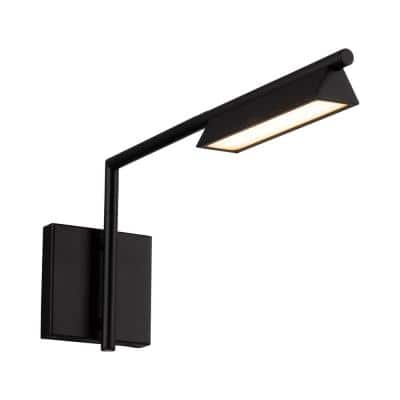Eero 18 in. Black Integrated LED Swing Arm Wall Light 3000K