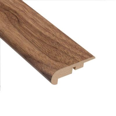 Authentic Walnut 7/16 in. Thick x 2-1/4 in. Wide x 94 in. Length Laminate Stairnose Molding