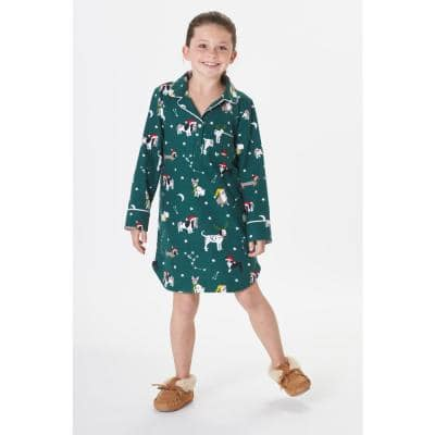 Family Flannel Company Cotton™ Girl's Sleepshirt in Holiday Dog