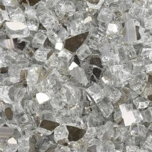 1/2 in. 10 lbs. Diamond Starlight Reflective Tempered Fire Glass in Jar