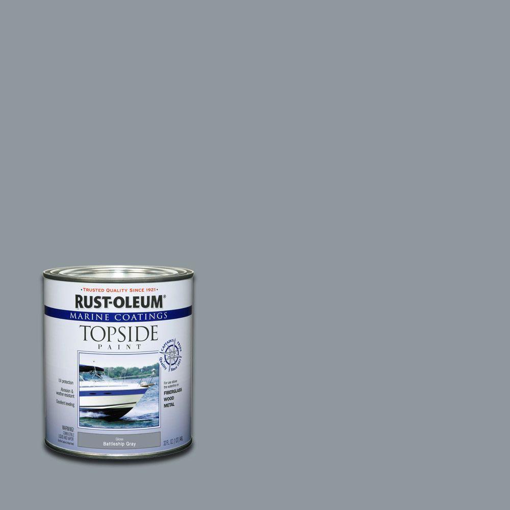 1 qt. Gloss Battleship Gray Topside Paint (4-Pack)