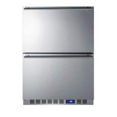 24 in. 3.4 cu. ft. Outdoor Refrigerator Drawer in Stainless Steel