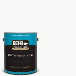 1 gal. Ultra Pure White Satin Enamel Exterior Paint and Primer in One