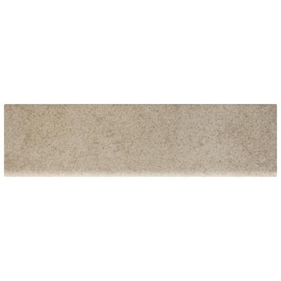 Manvel Ash Matte 3 in. x 12 in. Glazed Ceramic Bullnose Trim Tile (0.2357 sq. ft./Piece)