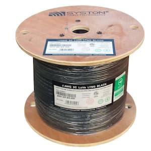 500 ft. 8-Gauge 2-Conductors Black Low Voltage Landscape Lighting Wire