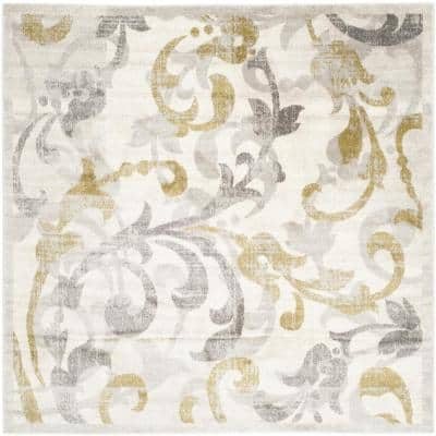 Amherst Ivory/Light Gray 9 ft. x 9 ft. Square Area Rug