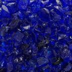 1/2 in. to 3/4 in. 10 lbs. Cobalt Blue Crushed Fire Glass in Jar