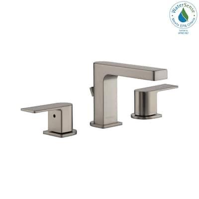 Xander 8 in. Widespread 2-Handle Bathroom Faucet in Brushed Nickel