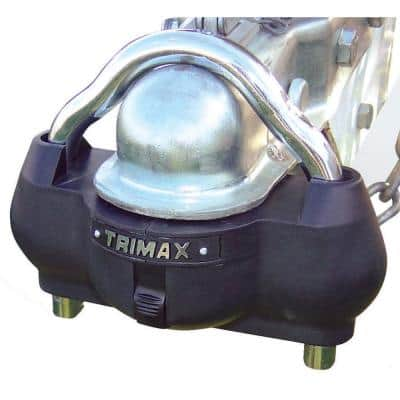 Premium Universal Unattended Coupler Lock with Shackle - Dual Purpose Steel