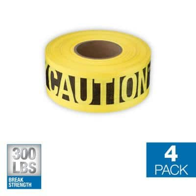 3 in. x 500 ft. Reinforced Caution Tape (4-Pack)