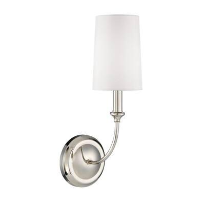 Sylvan 1-Light Polished Nickel Sconce