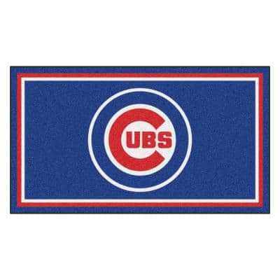 MLB - Chicago Cubs 3 ft. x 5 ft. Ultra Plush Area Rug
