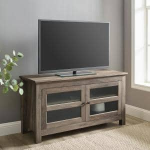 44 in. Gray Wash Composite TV Stand 48 in. with Cable Management