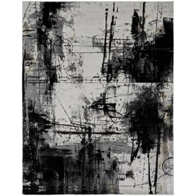 Black and Zinc 8 ft. 6 in. x 11 ft. 6 in. Area Rug