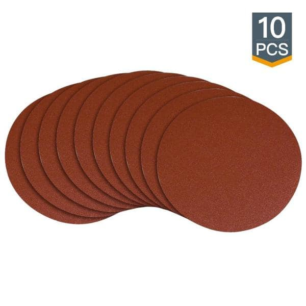 5 Pack 9 Inch 80 Grit Adhesive Back Aluminum Oxide Metal Sanding Discs