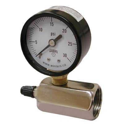 200 PSI Gas Test Gauge Assembly with 2 in. Face and 3/4 in. FIP Inlet