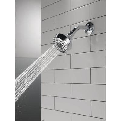 3-Spray 3-5/8 in. Single Fixed Shower Head Wall Mount in Chrome