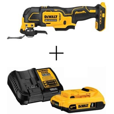 ATOMIC 20-Volt MAX Cordless Brushless Oscillating Multi-Tool (Tool-Only) with 20-Volt 2Ah MAX Li-Ion Battery and Charger