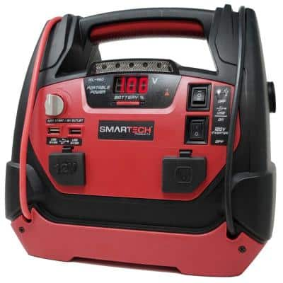 JSL-950 Power Station with Jump Starter and 150 PSI Air Compressor, one 120V power inventer outlet