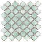 Hudson Tangier Mint Green 12 in. x 12 in. Porcelain Mosaic Tile (10.96 sq. ft. / Case)