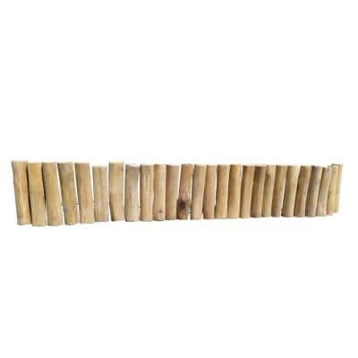 60 in. x 2 in. x 10 in. Natural Color Even Solid Teak Wood Log Edging