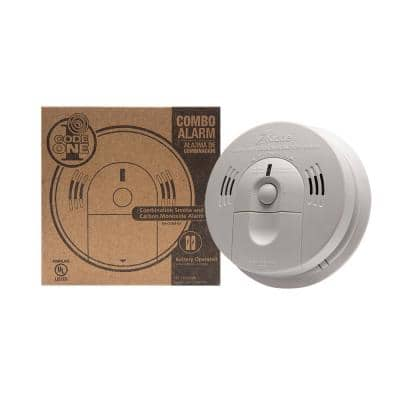 Code One Battery Operated Smoke and Carbon Monoxide Combination Detector with Voice Warning
