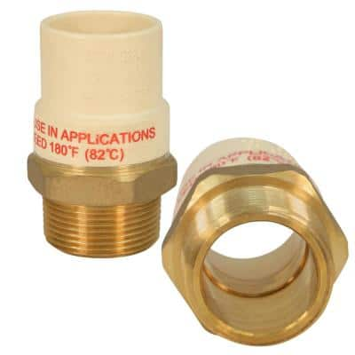 1-1/2 in. MIP x 1-1/2 in. Lead Free Brass CPVC Adapter Pipe Fitting (5-Pack)