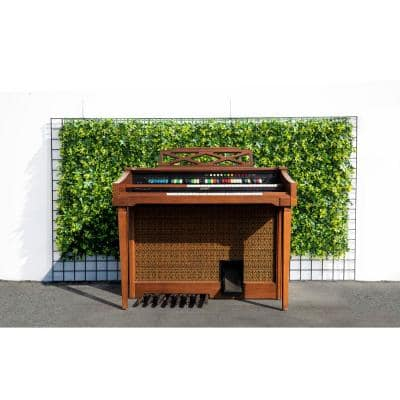 """20"""" x 20"""" Green & Yellow Motley Leaves-Artificial Boxwood Hedges, Living Wall Panels (12 pcs)"""