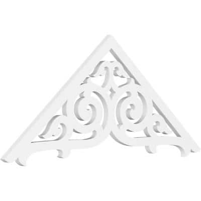 1 in. x 48 in. x 20 in. (10/12) Pitch Athens Gable Pediment Architectural Grade PVC Moulding