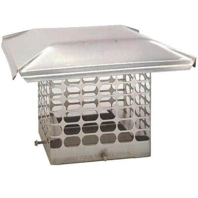 21 in. x 21 in. Adjustable Stainless Steel Chimney Cap